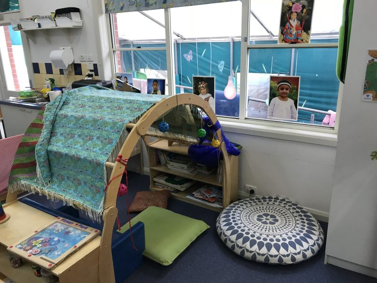 Indoor play and reading area